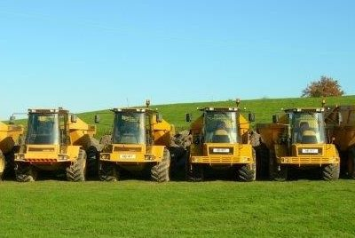 Some of our fleet at HFF Construction Ltd